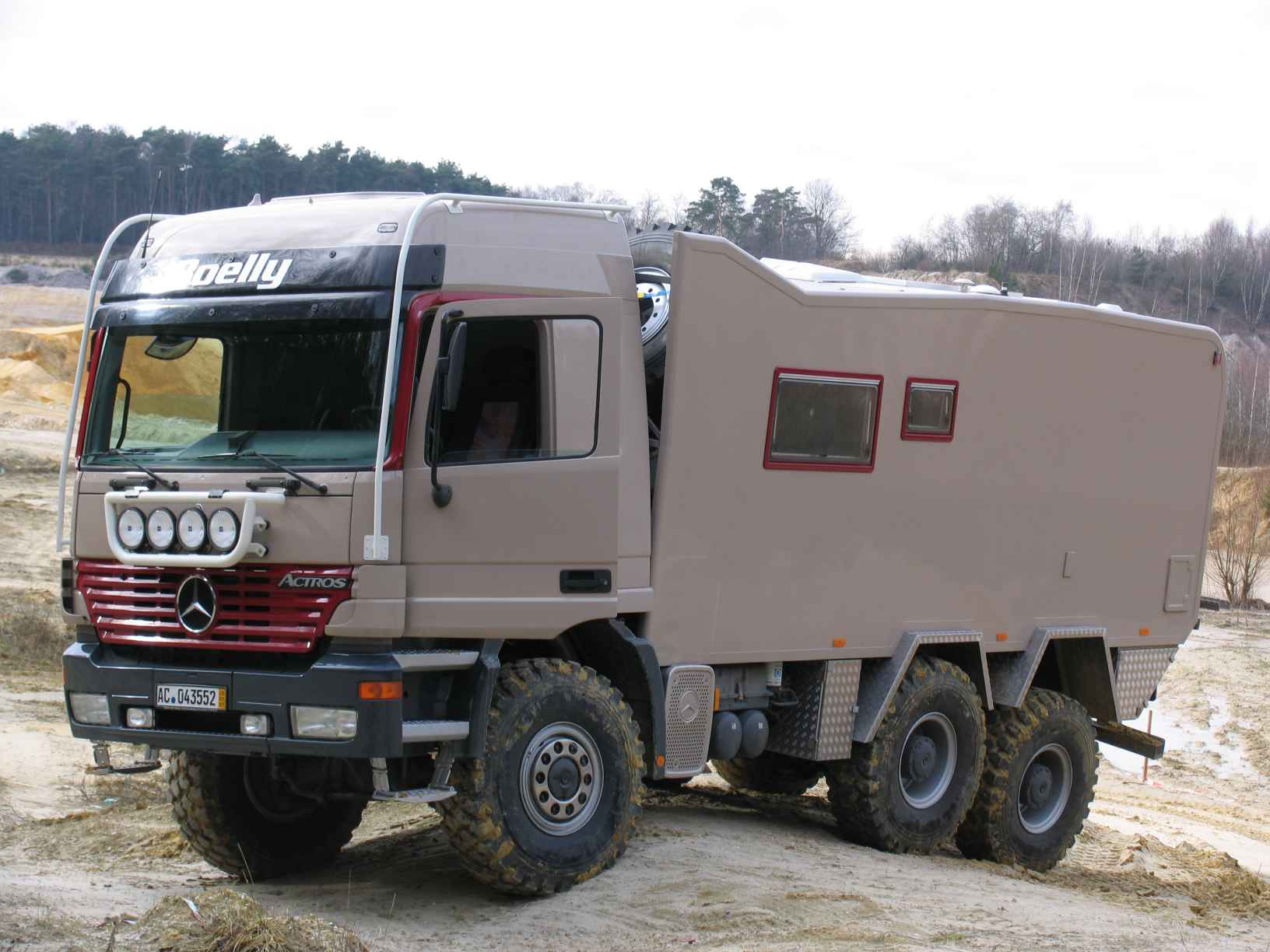 Dutchman Paul Aalmans Knows His Off Road Campers This Is The Third One Hes Built And By Far Largest Starting With A Tired But Capable Mercedes Benz