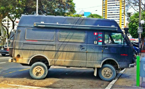 badass vw lt40 syncro snapped in lima peru expedition motorhome