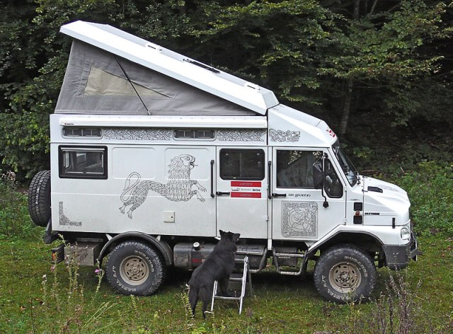 Camping in the Bremach Xtreme 4×4 Van